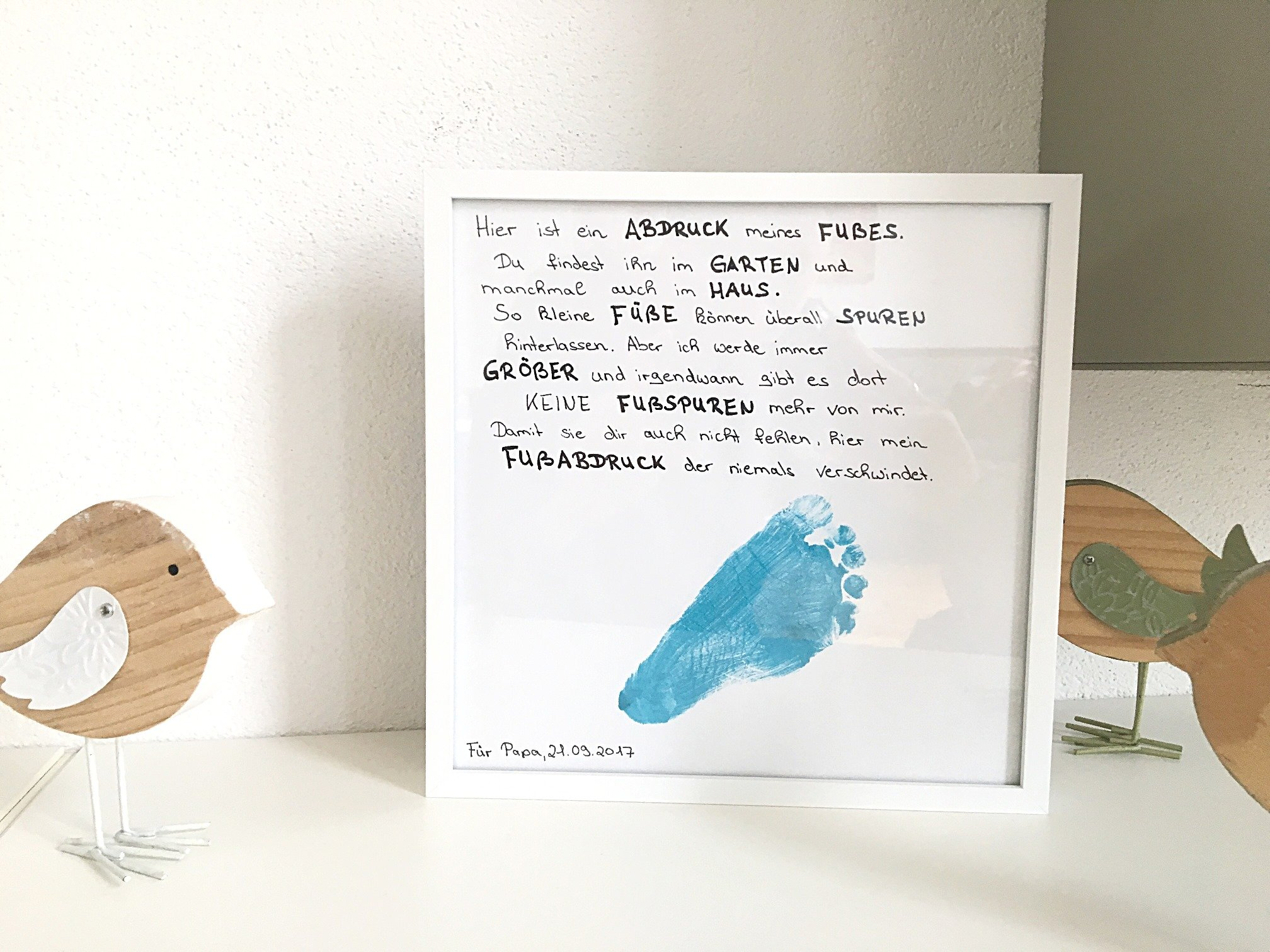 Foto 19.09.17 08 52 25 - Fußabdruck Baby/Kind als Geschenk, inklusive Anleitung