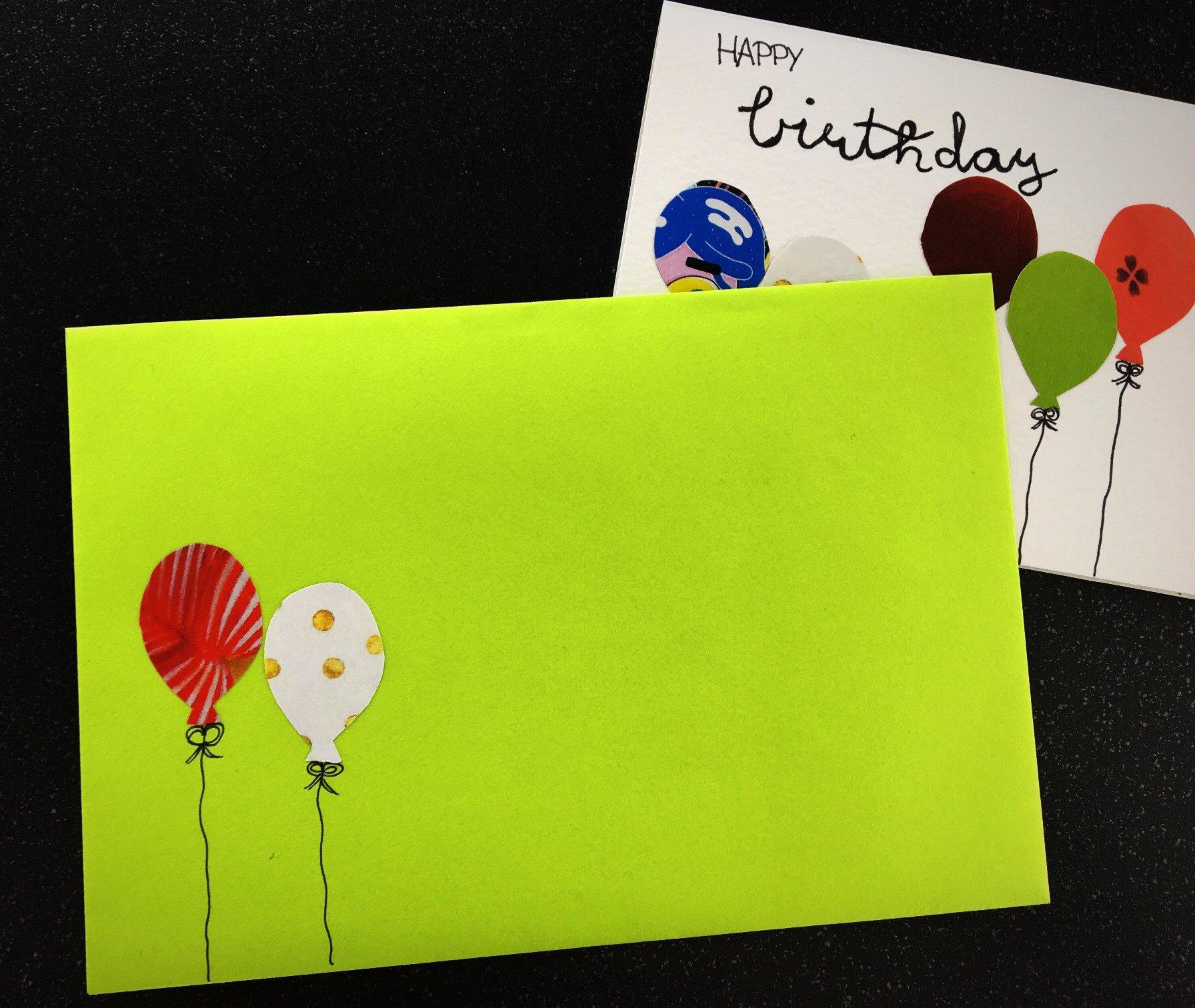IMG 9491 - Geburtstagskarte mit Luftballons basteln