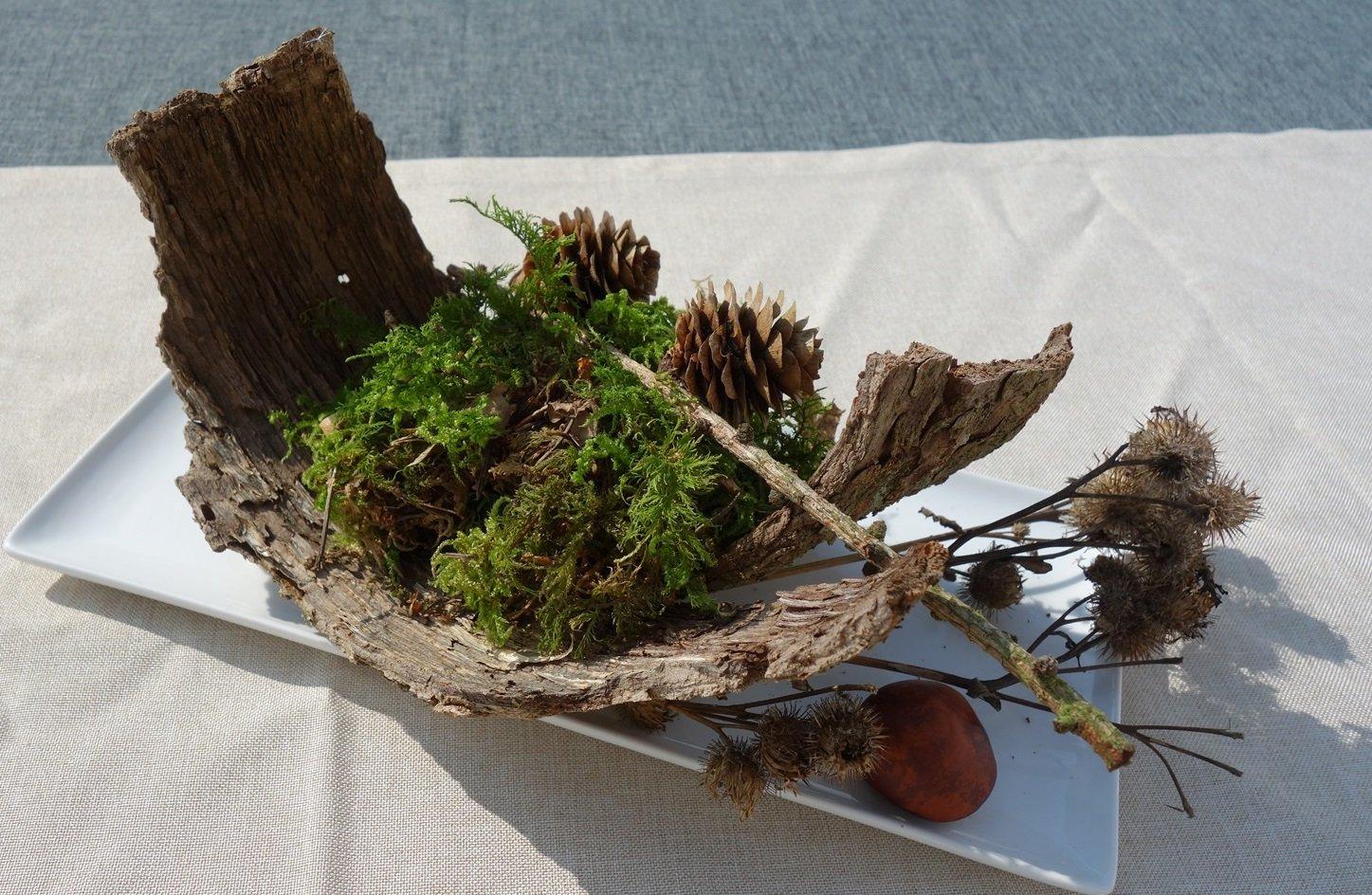 DSC00852 - Herbstdeko -Tischdeko aus dem Wald