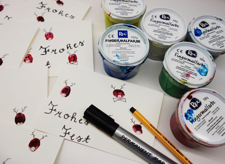 DSC01563 - Weihnachtskarten mit Fingerfarbe basteln