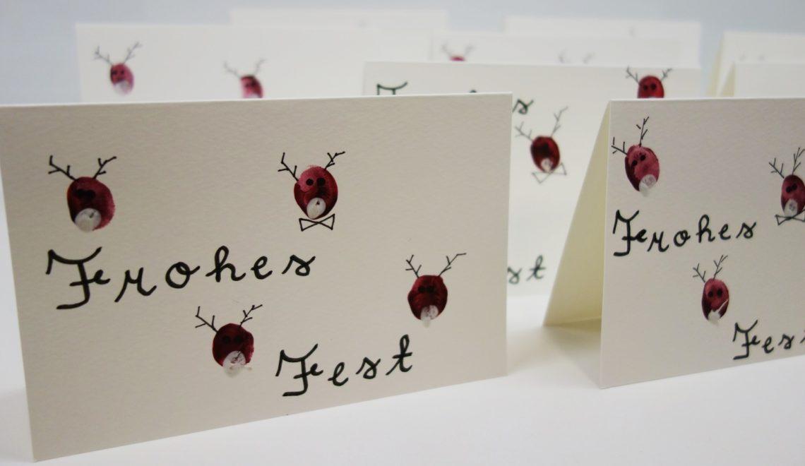 weihnachtskarten mit fingerfarbe basteln ohmylife oh. Black Bedroom Furniture Sets. Home Design Ideas
