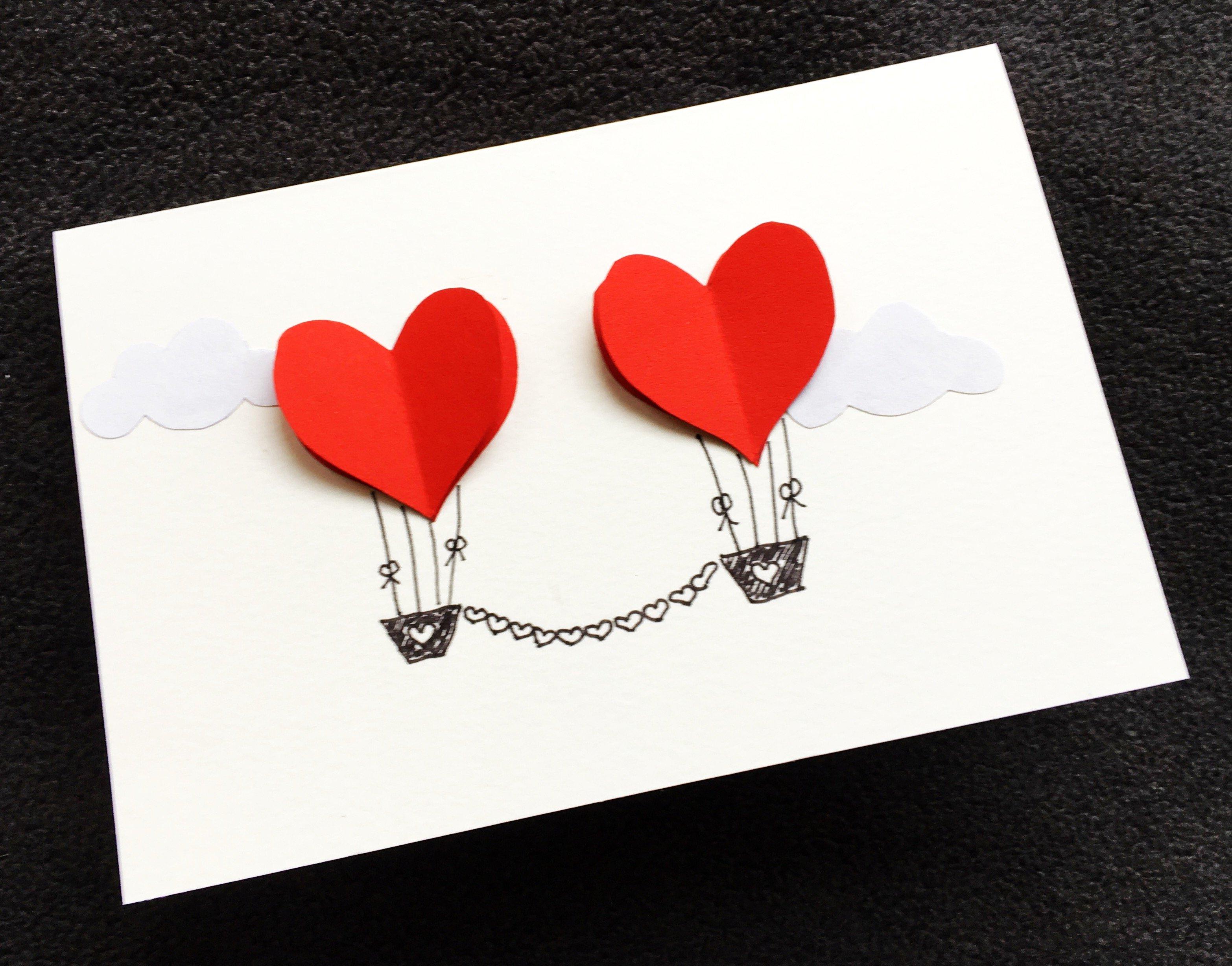 Foto 03.02.18 10 51 26 - Hochzeitskarte mit Herzen basteln