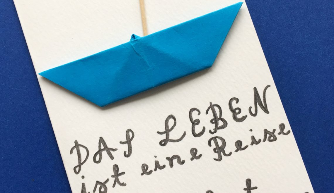 Karte Geburtstag mit Schiff