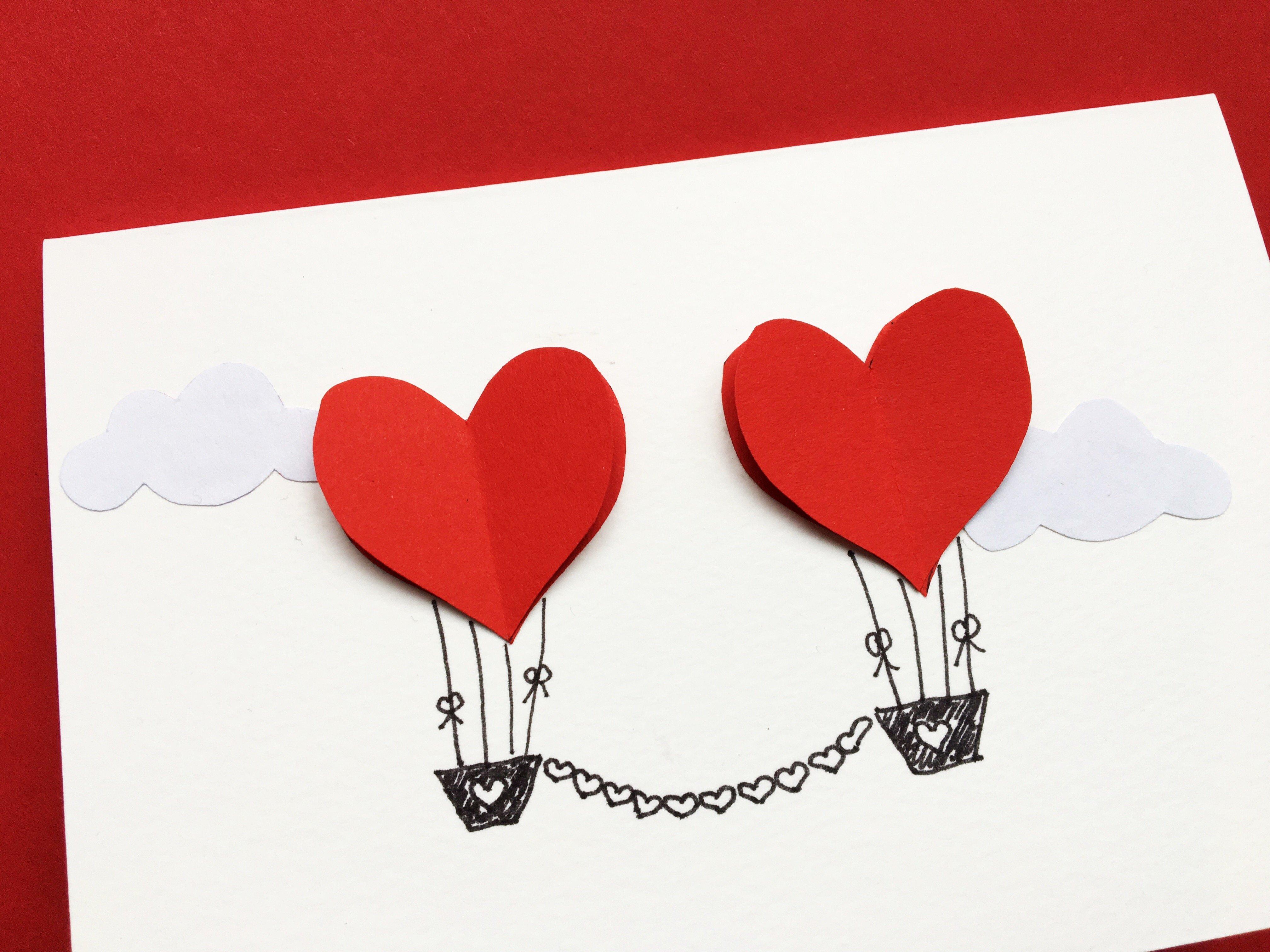 Foto 03.02.18 11 02 16 - Hochzeitskarte mit Herzen basteln