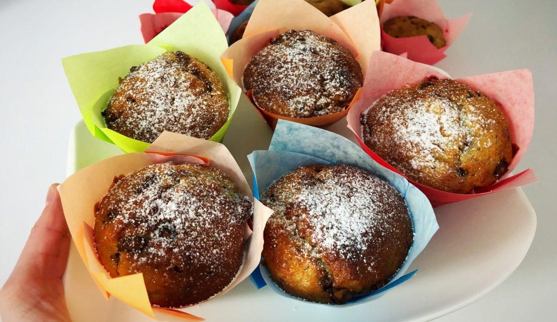 Schnelle Bananen-Schoko-Muffins