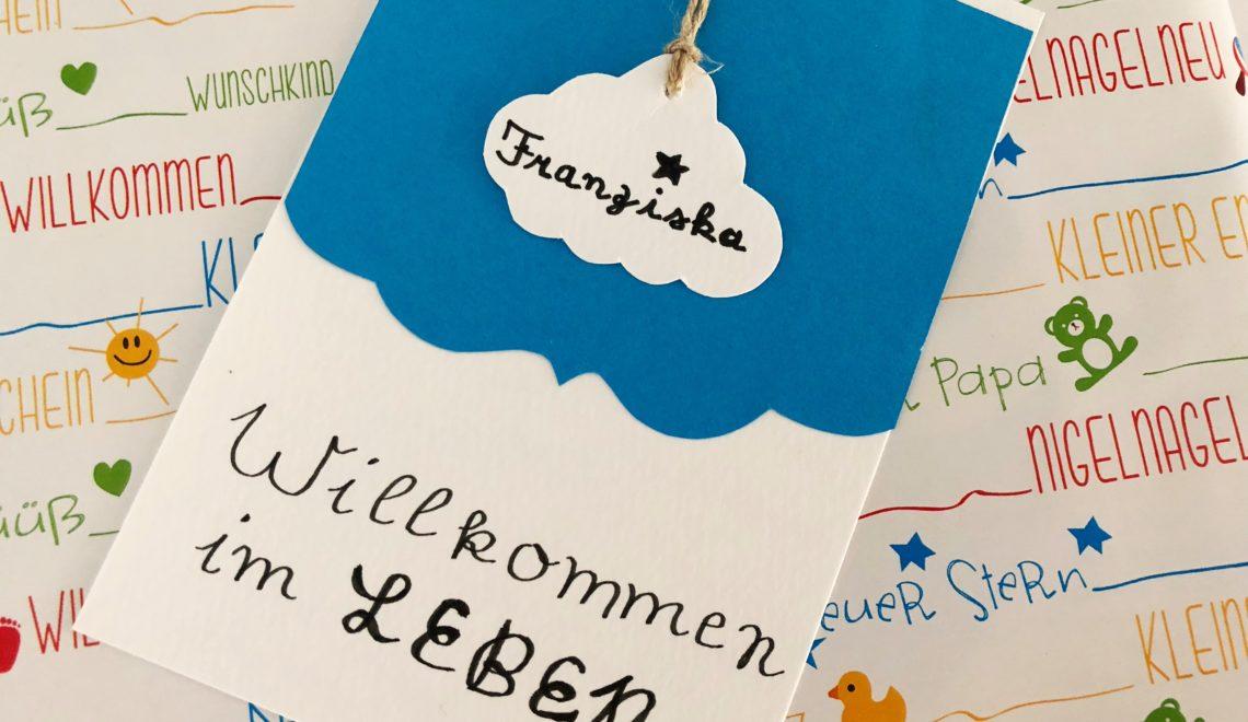 """Karte Geburt """"Willkommen im Leben"""""""