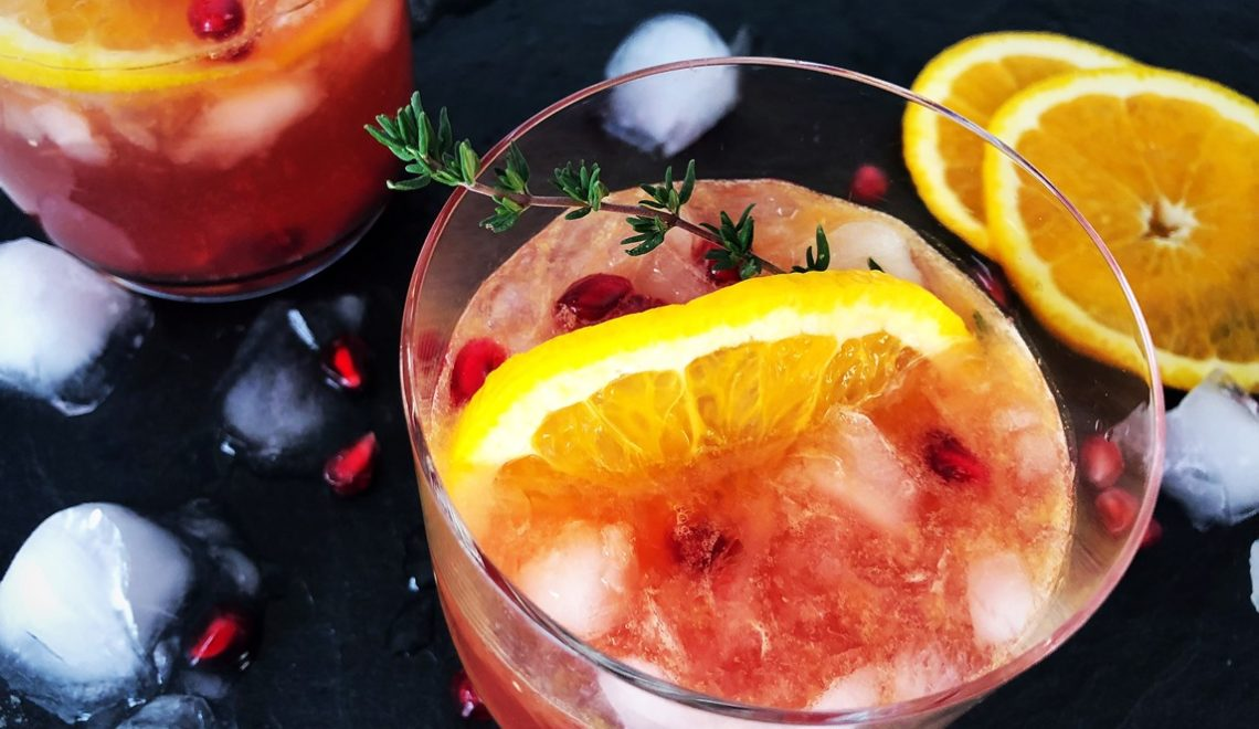 Granatapfel Orangen Gin Tonic