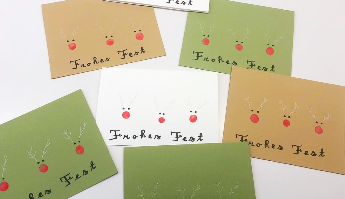 Last-Minute Weihnachtskarte basteln
