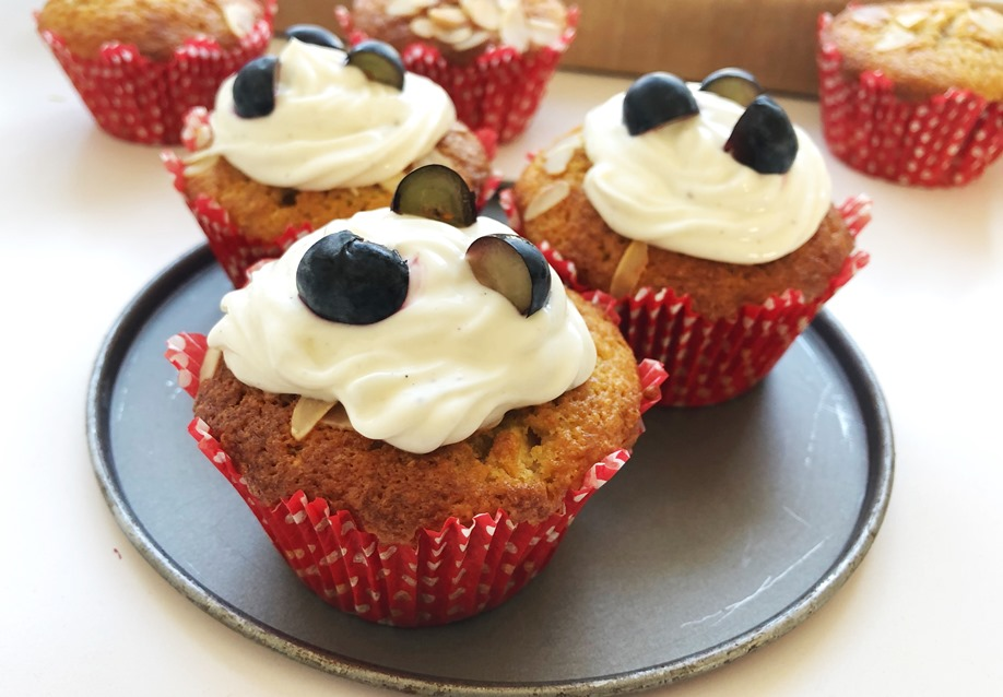 Apfel-Cupcakes mit Joghurttopping