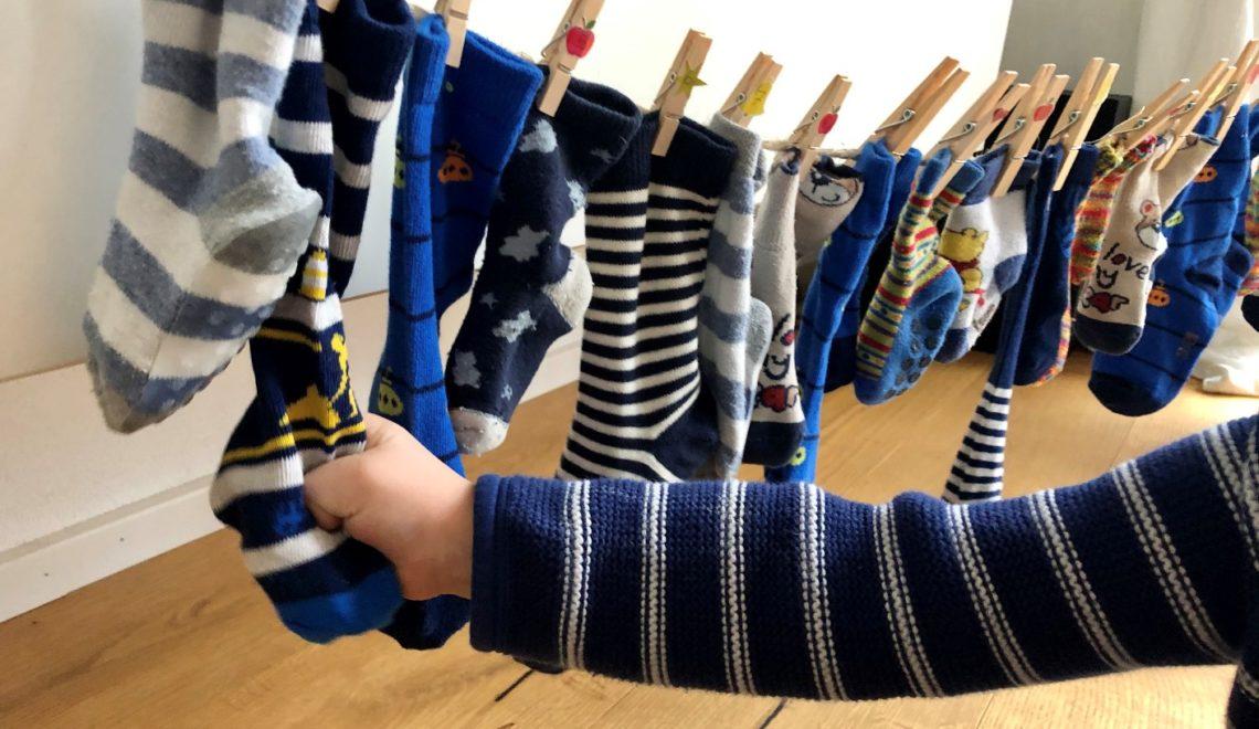 DIY Nachhaltiger Adventskalender mit Socken