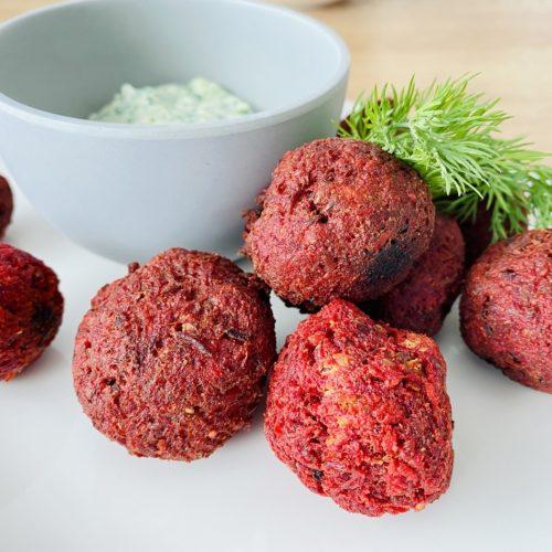 Rote Bete Falafel 4 500x500 - Rote-Bete-Falafel mit Zucchini-Zaziki