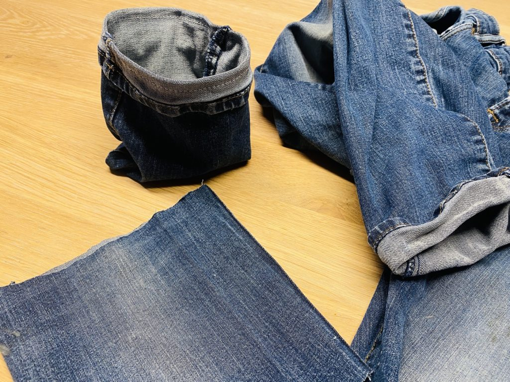 Upcycling osternest jeans 8 1024x768 - Upcycling Osternest aus alter Jeans