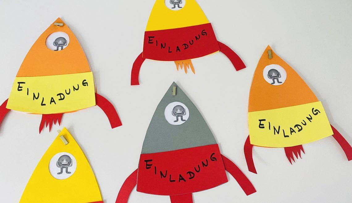 Einladung Astronauten-Geburtstag