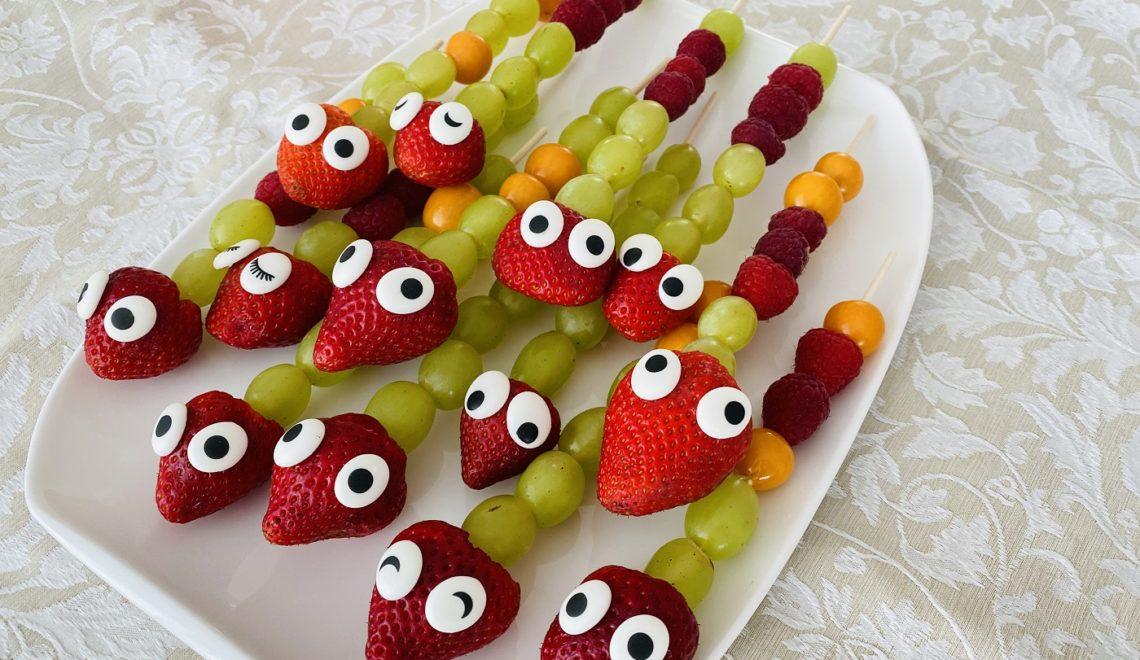 Obstspieße für Kinder