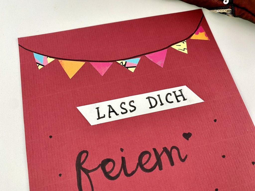 """Karte Geburtstag basteln 3 1024x768 - Karte Geburtstag """"Lass Dich feiern"""" basteln"""